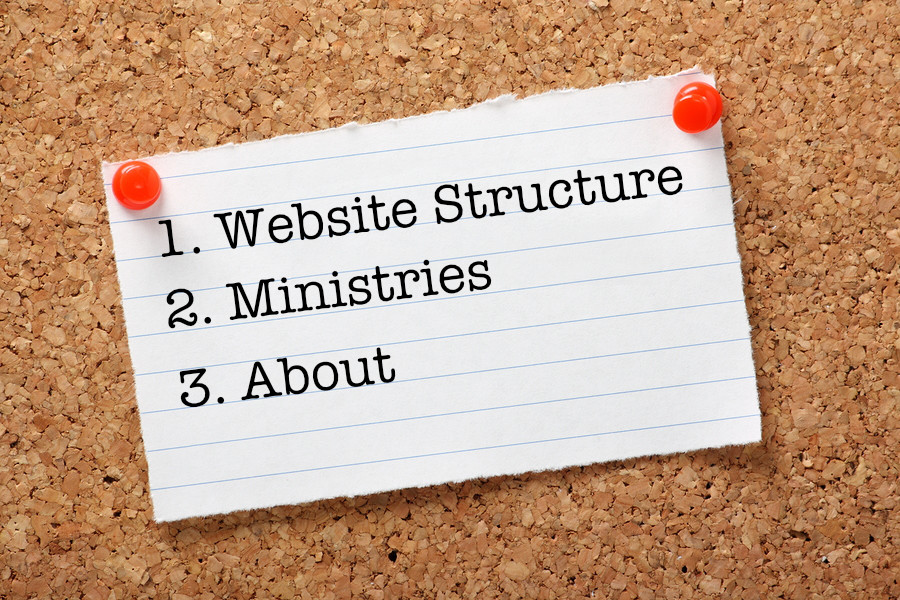 church website structure - Church Website Design Ideas