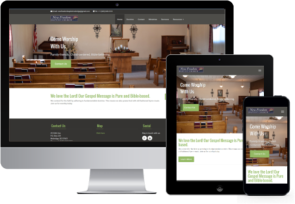 responsive church websites for desktop, tablet and mobile