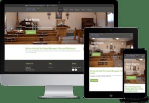 responsive church websites for desktop, tablet and mobile