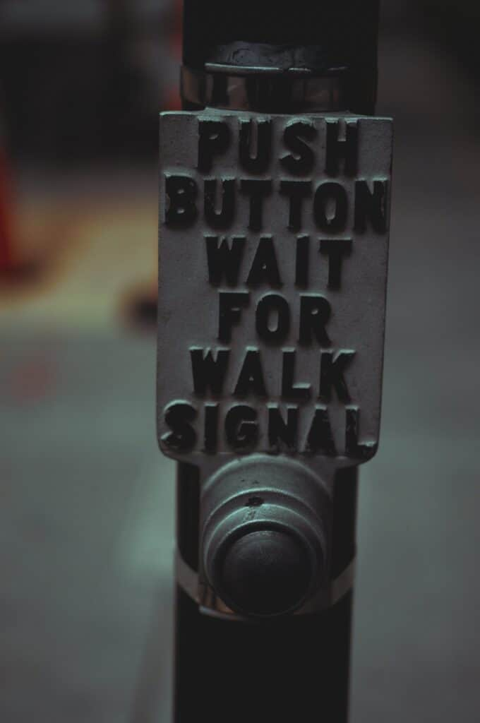 push button pedestrian walk device