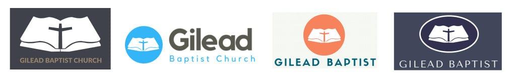 Four logo styles